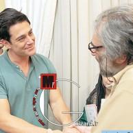 محمد رضا گلزار | دیدار محمدرضا گلزار از پشت صحنه فیلم مسعود کیمیایی