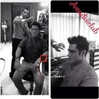 محمد رضا گلزار | محمدرضاگلزار در آرایشگاه