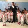 محمد رضا گلزار   رضا گلزار در کنار فوتبالیست های کوچولو
