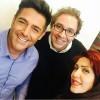 محمد رضا گلزار | رضا گلزار در کنار عوامل روزهای آخر فیلمبرداری سلام بمبیی
