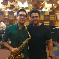 محمد رضا گلزار | تمرین موسیقی رضا گلزار در استودیو فراز