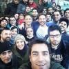 محمد رضا گلزار | رضا گلزار در پشت صحنه و سلفی گرم عاشقانه در روزهای سرد زمستان