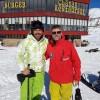 محمد رضا گلزار | رضا گلزار در کنار دوستان، پیست اسکی دیزین
