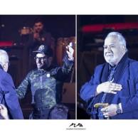 محمد رضا گلزار   ناصر ملک مطیعی میهمان ویژه محمدرضا گلزار در کنسرت تهران