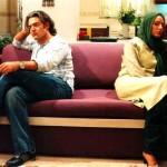 تهمینه میلانی و محمدرضا گلزار در فیلم آتش بس