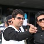 علی عطشانی و محمدرضا گلزار در پشت صحنه فیلم