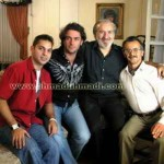 پیمان معادی، حمید اعتباریان، محمدرضا گلزار و امین حیایی در فیلم شام عروسی