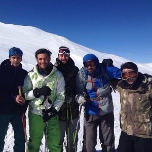 rezagolzar & doostan dar Ski