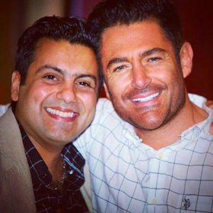 reza golzar with friend