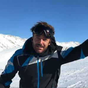 reza golzar - ski - instagram