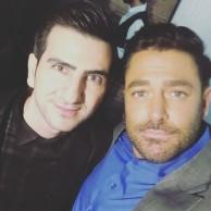 محمد رضا گلزار | رضاگلزار و طرفداران در پشت صحنه مسابقه برنده باش مورخ پنجشنبه ۸ آذر