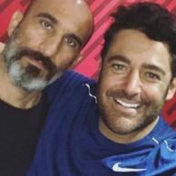 محمد رضا گلزار | استوری های محمدرضا گلزار به همراه مربی بدنسازی اش در باشگاه