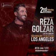 محمد رضا گلزار | برای اولین بار کنسرت بزرگ محمدرضا گلزار در لس آنجلس ، ٢ نوامبر